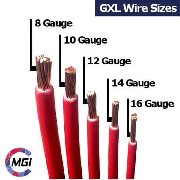 GXL Wire sizes