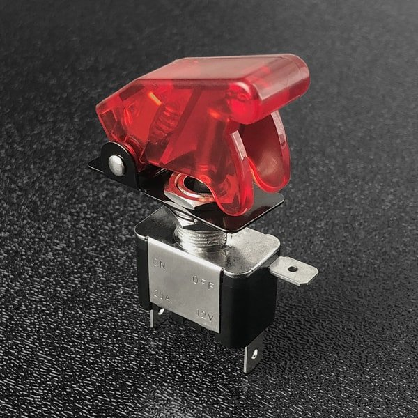 led toggle switch red