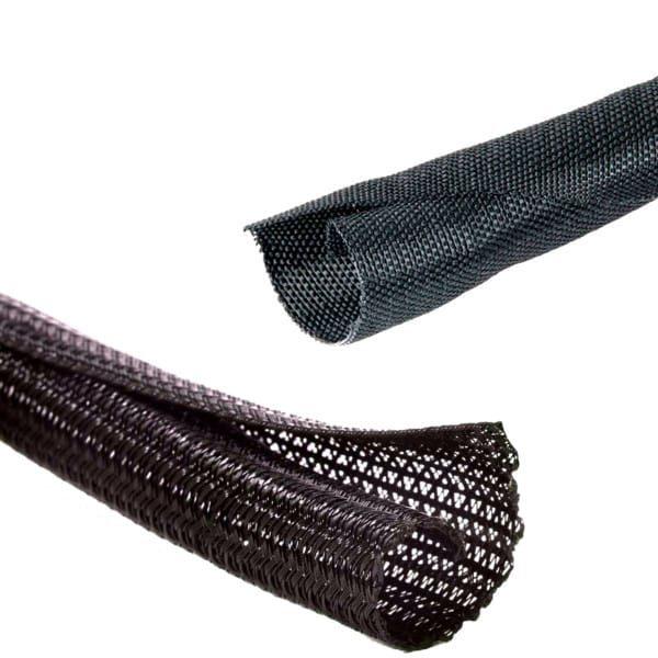 automotive braided wire loom split sleeve wrap mgi speedware rh mgispeedware com  car wiring harness wrap