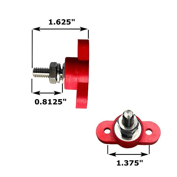 power junction stud dimensions