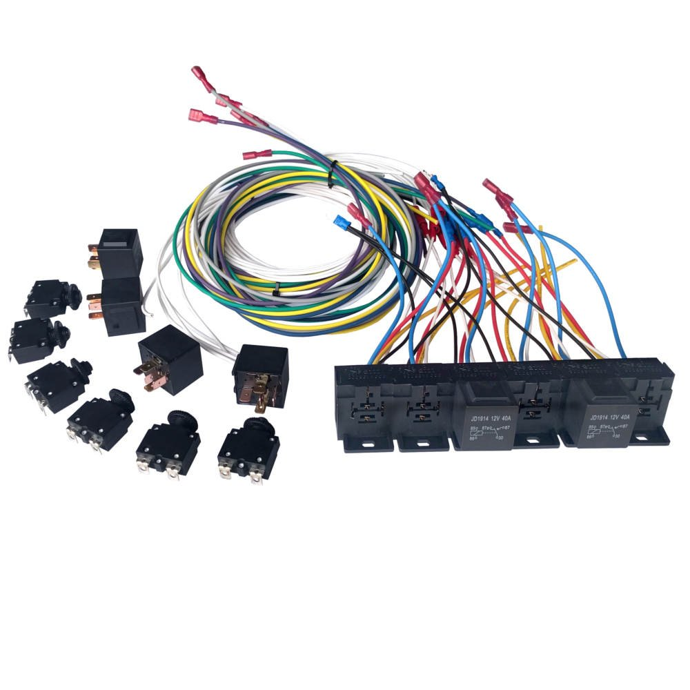 Relay Bank With 5 Pin Socket Harness And Breakers Mgi