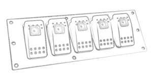 Racing Rocker Switch Panel & Wiring Kit