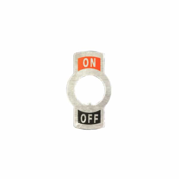 toggle name plate on off