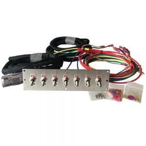 LED toggle switch panel