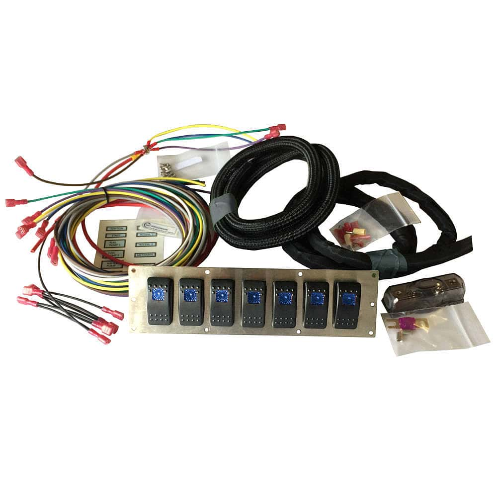 marine rocker or race car switch panel kit
