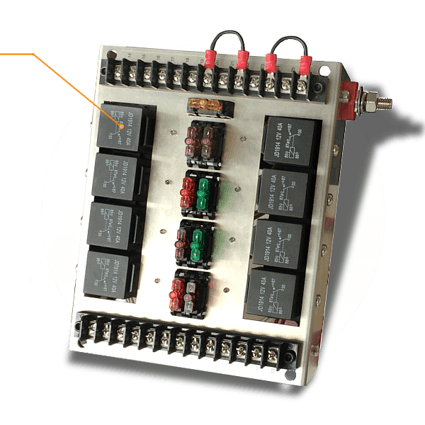 Automotive Relay And Fuse Panel  U2014 12vdc 40a Relays