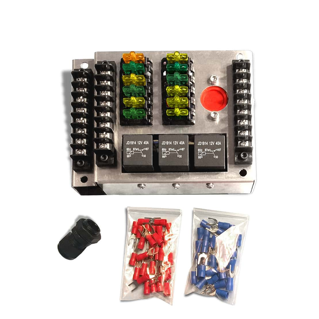 Pre-Wired Fuse Box with Relays | MGI SpeedWare | Add On Automotive Fuse Box |  | MGI SpeedWare