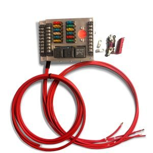 12v aftermarket fuse box universal car fuse block mgi speedware 12 fuse panel wire harness
