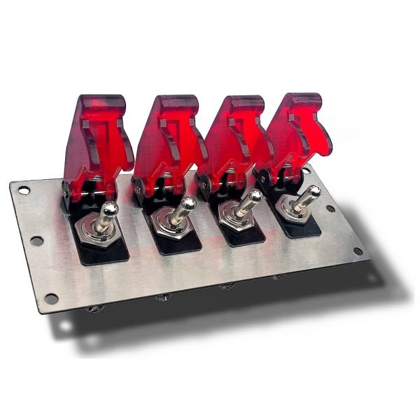 toggle board with red aircraft flip covers