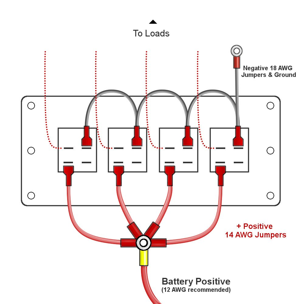 on gang toggle switch wiring diagram