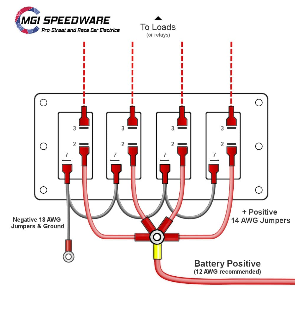 Diagram  12 Volt Marine Switches Wiring Diagram Full