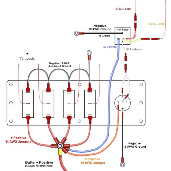 toggle switch panel pushbutton wiring diagram