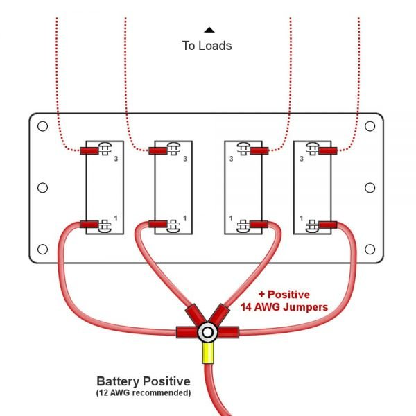 toggle switch panel wiring diagram