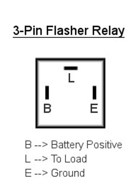 flasher relay 3 pin wiring diagram