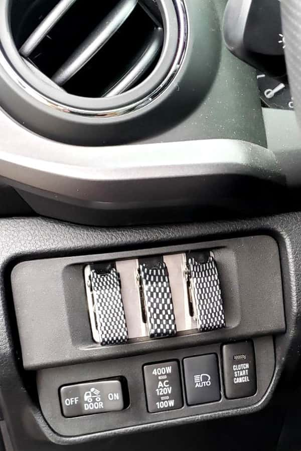 switch panel in dash