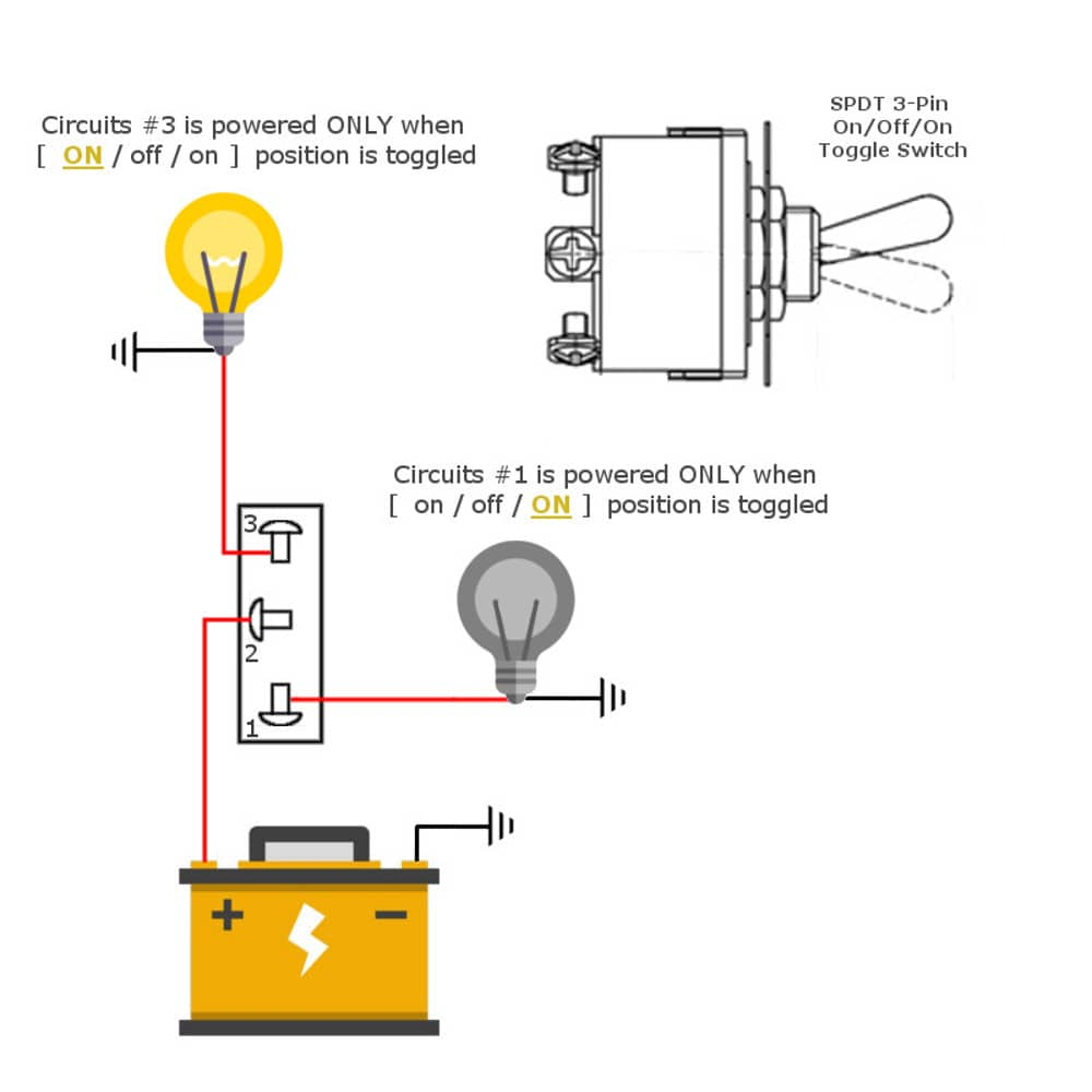 spdt switch toggle wiring diagram switches metal way 12v