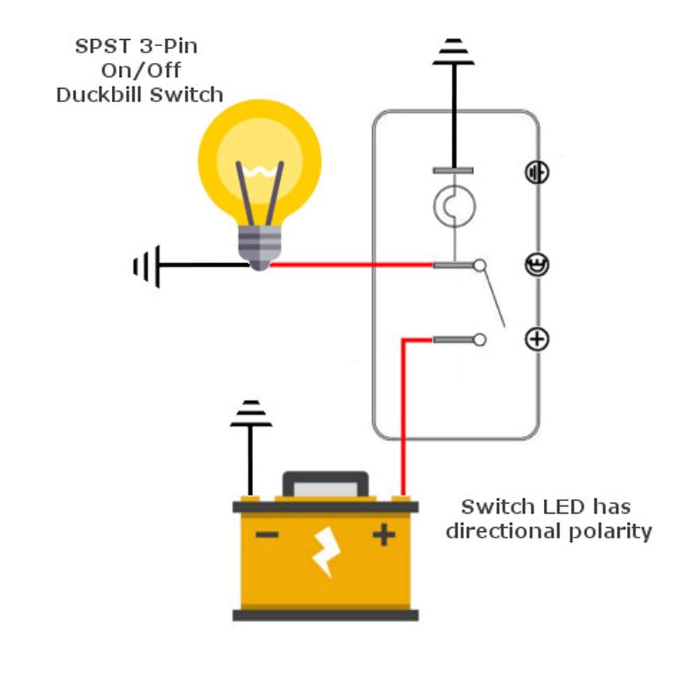 12v Lighted Duckbill Toggle Switch | MGI SpeedWare