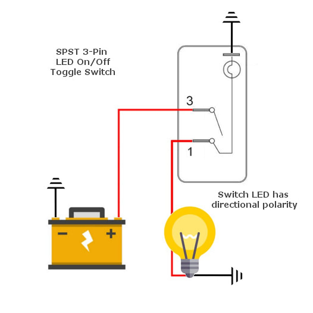Dpdt On Off Rocker Switch Diagram On Led Toggle Switch Wiring Diagram