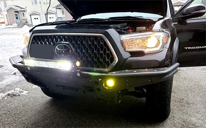 tacoma front with lights