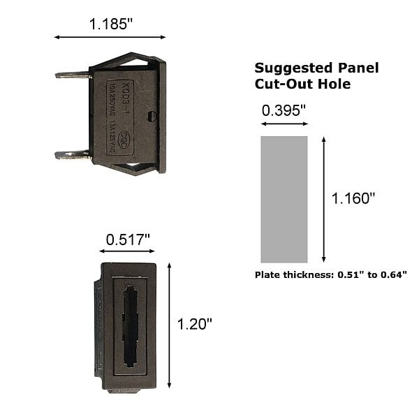 mounted fuse holder dimensions