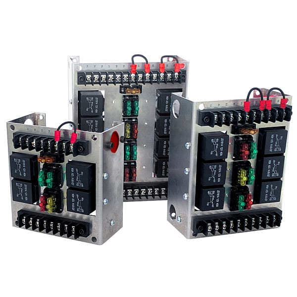 Bosch Style Relay Boxes — Choose 4, 6 or 8 Relays | MGI SpeedWare Fuse And Relay Box MGI SpeedWare