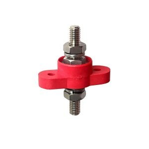 "5/16"" power junction stud red feed-thru"
