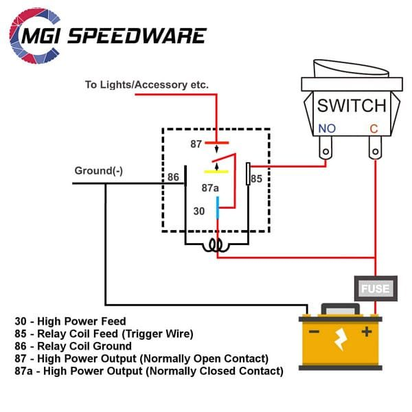 5 pin spdt relay wiring diagram