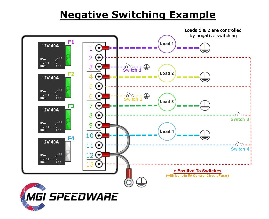 Neg Relay Switch Wiring Diagram