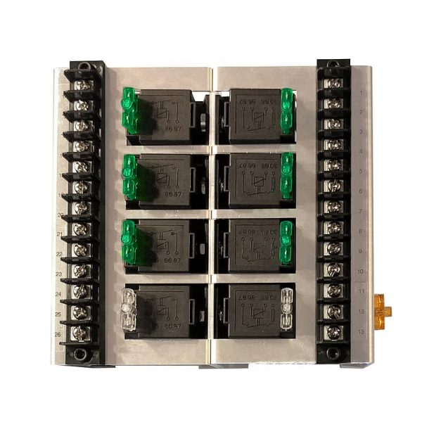 automotive 8 relay box with fuse