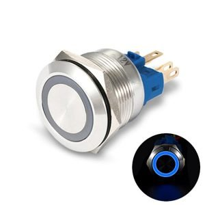blue LED pushbutton