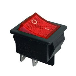 Snap-In Neon Rocker Switch DPST On/Off