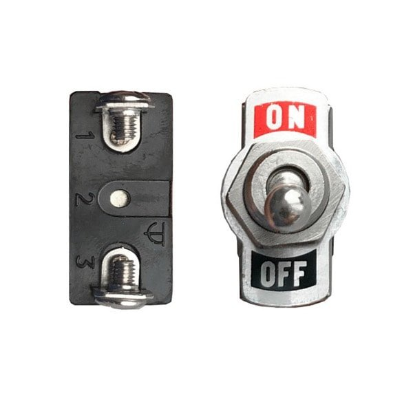 Metal Toggle Switch 2-Pin SPST On/Off