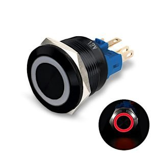 black body pushbutton red LED