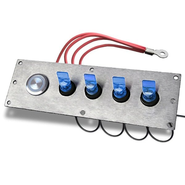 switch panel with duckbill switch blue