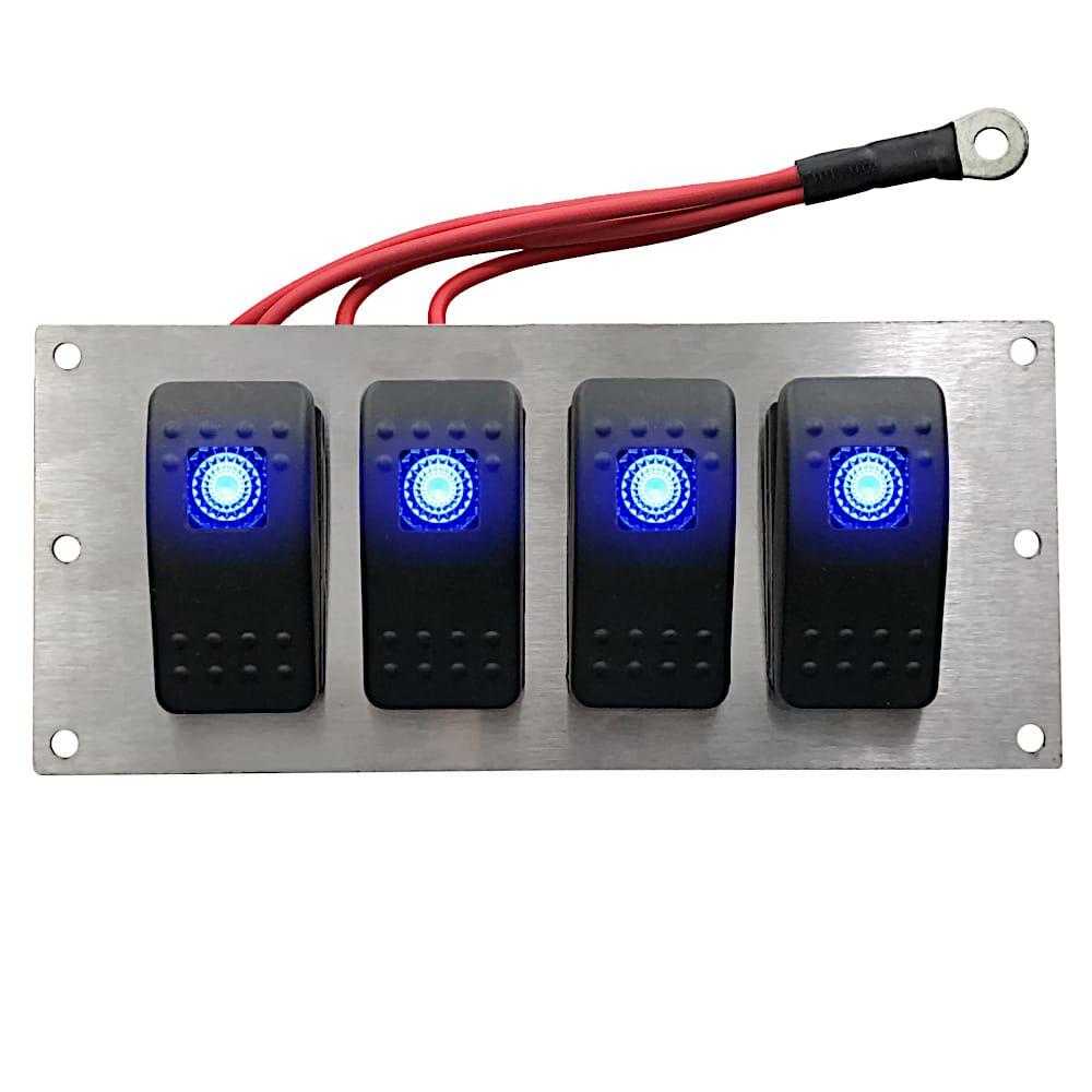rocker switch panel lighted blue