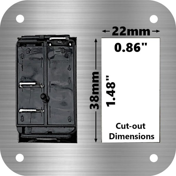 marine rocker switch cut-out