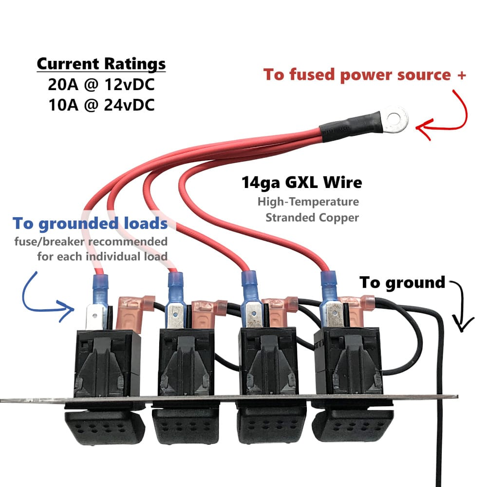 4 Gang Switch Panel Wiring Diagram