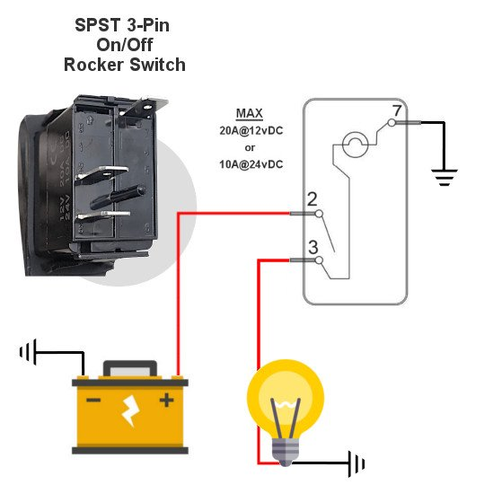 spst marine switch diagram