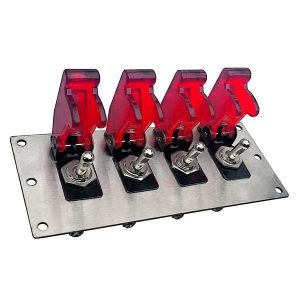 toggle switch panel red