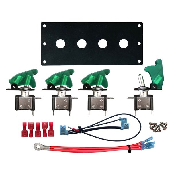 led toggle switch panel kit green