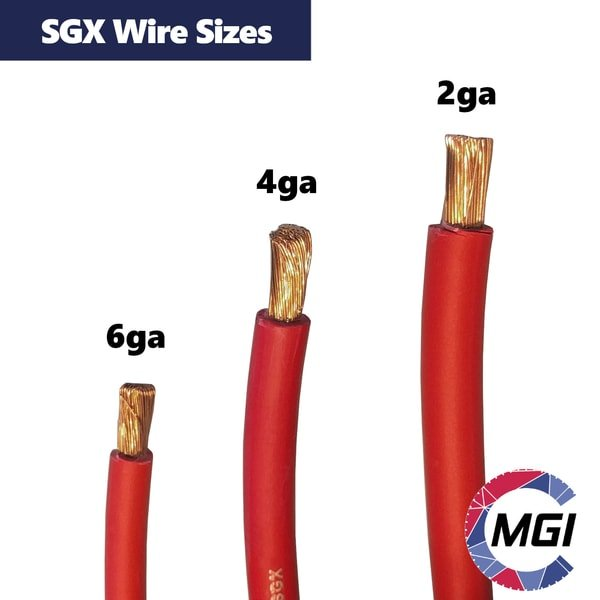 SGX battery cable sizes