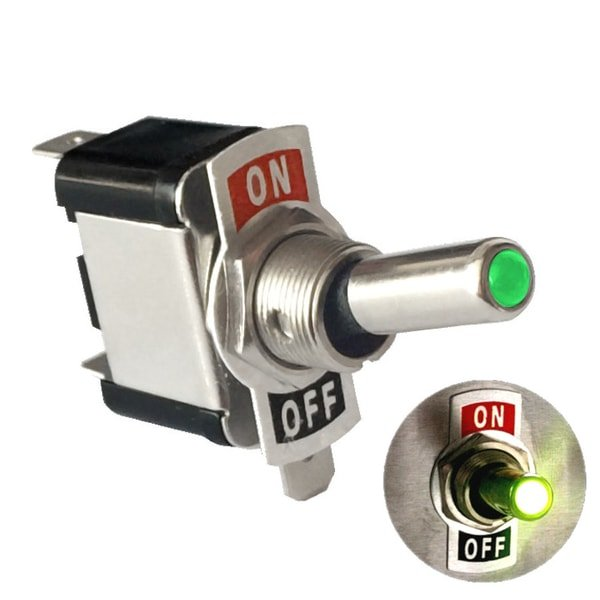 led toggle switch green