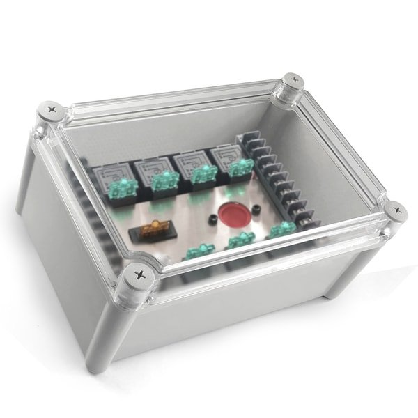 junction box with relay panel